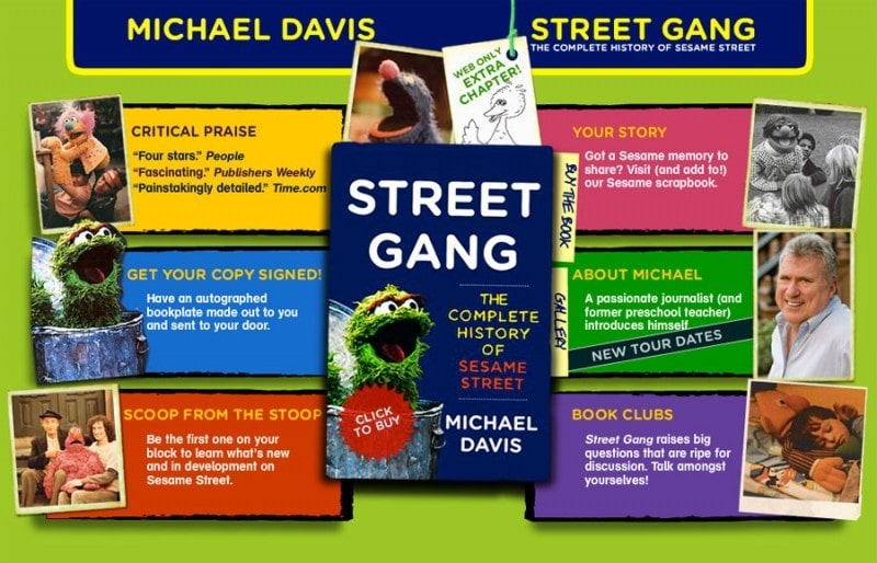 Marketing and book website design for Street Gang