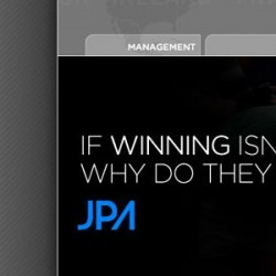Website design for UK sports agency, JPA
