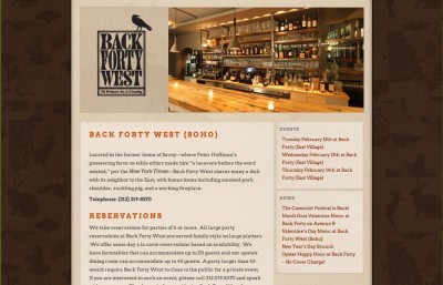 Back Forty Restaurant NYC