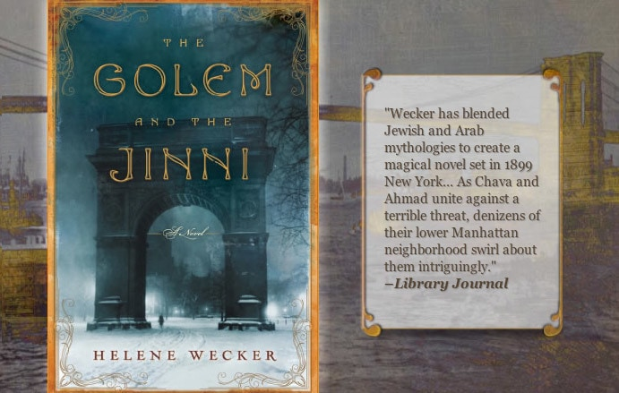 Author website design by Adrian Kinloch for The Golem and the Jini