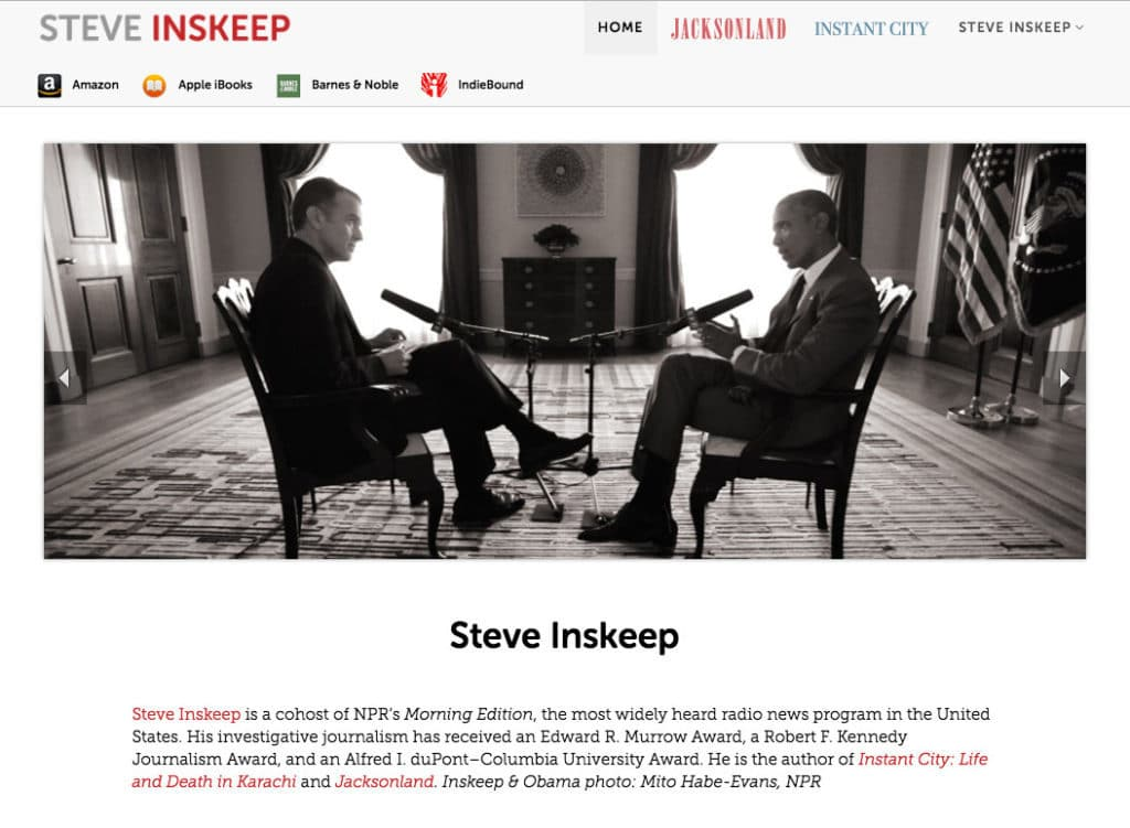 Design for Steve Inskeep, NPR