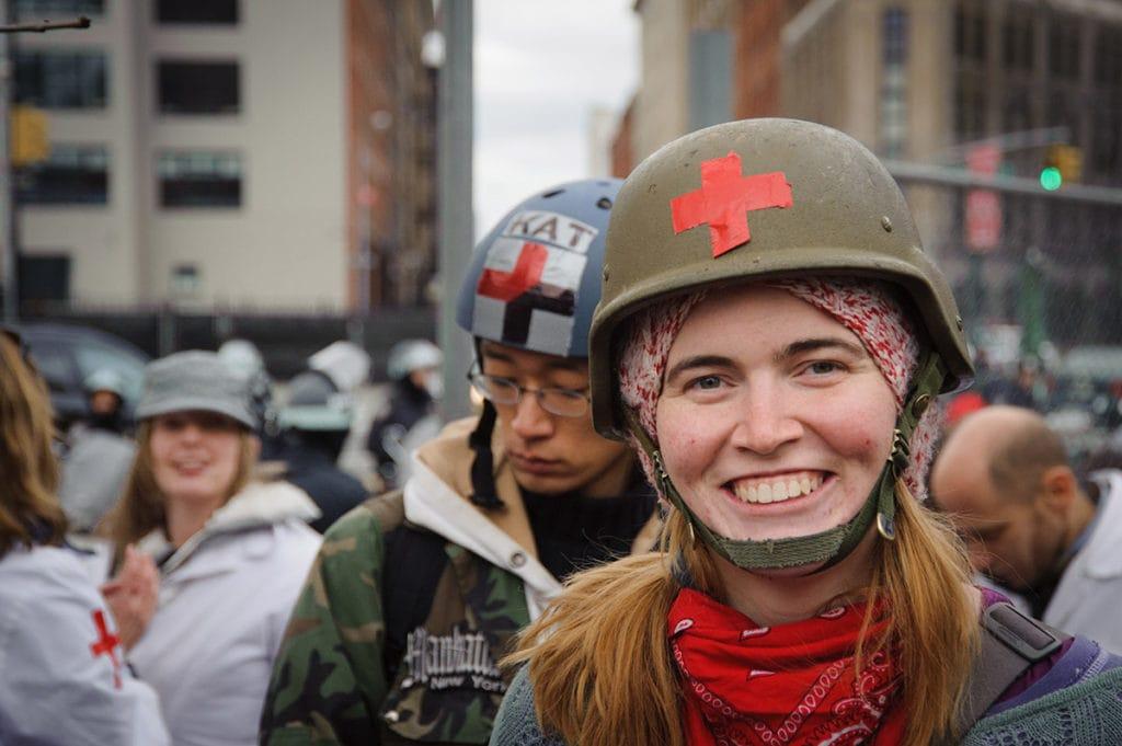 Occupy medic at Duarte Park