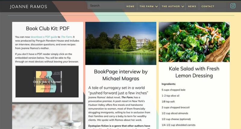 ramos-kinloch-author-website-design
